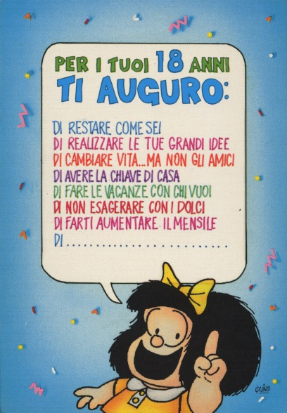 Cartoline Biglietti Poster Cartoline Mafalda 5 Buon