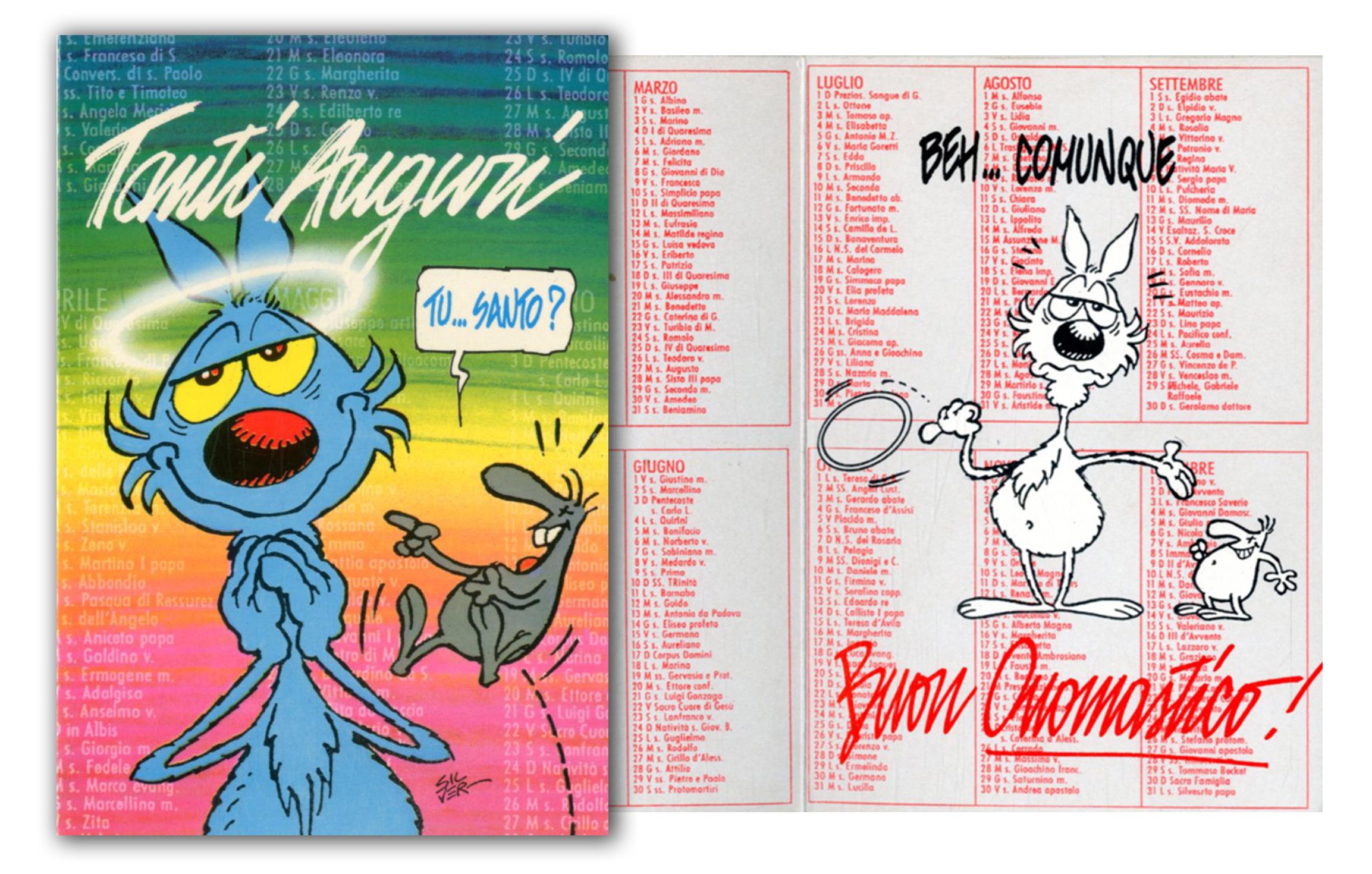 Cartoline Biglietti Poster Biglietto Lupo Alberto 3 Buon